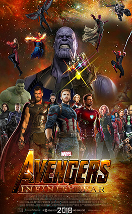 Affiche Avengers: Infinity War.