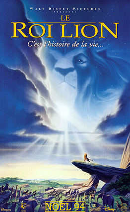 Affiche Le Roi lion.