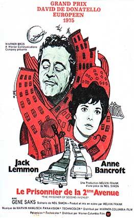 Affiche Le Prisonnier de la seconde avenue (1975)