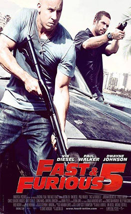 Affiche Fast & Furious 5 (2011)