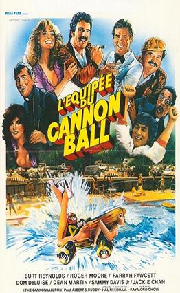 Affiche L'équipée du Cannonball (1981).