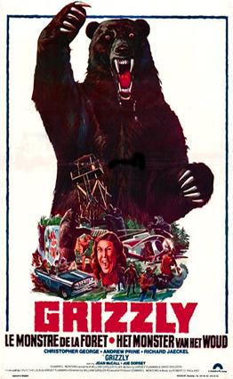 Affiche Grizzli, le monstre de la forêt (1976).