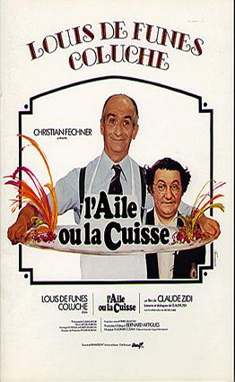 Affiche L'aile ou la cuisse (1976).