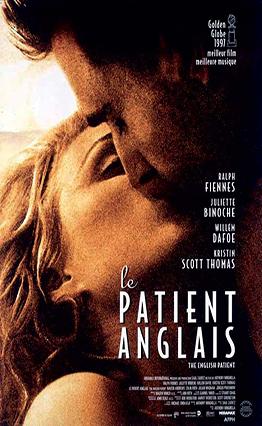 Affiche Le patient anglais (1996).